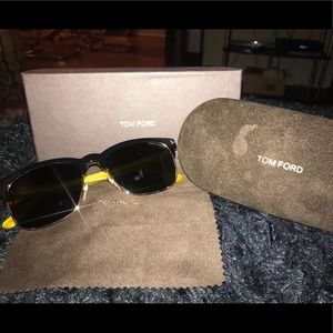 Tom Ford Rose Gold/Black Sunglasses
